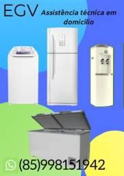 Conserto de geladeira, freezer, máquina de lavar, ar condicionado, Gelagua