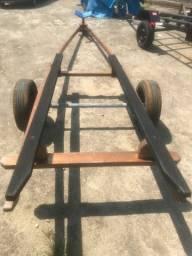 Carreta de encalhe para barcos 6 metros