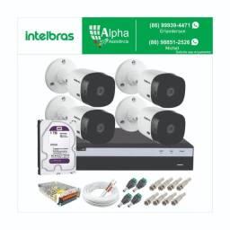 Kit circuito de câmeras de segurança: Kit 4 câmeras:
