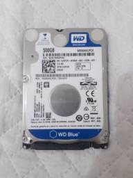 HD para notebook 500gb, 6gb taxa de transferência.