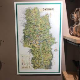Mapa de Pomerode Emoldurado Original 1986