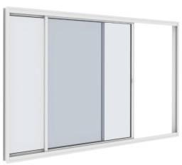 Título do anúncio: Vitro correr 2 folhas aluminio branco com vidro