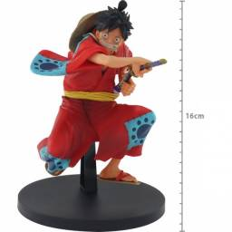 Action Figure One Piece Monkey D Luffy King of Artist Wanokuni Bandai Banpresto
