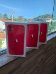 IPHONE 11 128GB RED COM FONTE E FONE