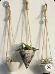Promo de fim de ano vasos de cimento decorados