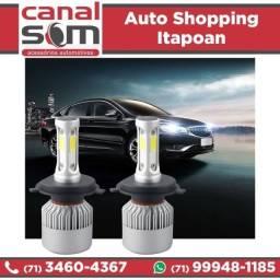 Título do anúncio: Super Led Automotivo E-tech 6000k 3200 Lúmens 40w instalado na Canal Som