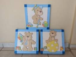 Quadro decorativo ursinhos