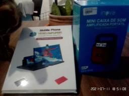 Mini caixa de som e amplificador de tela de celular