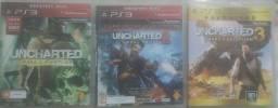 Coleção Uncharted play 3 -