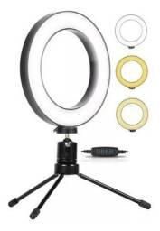 Ring light de mesa  tirar fotos led 6 polegadas