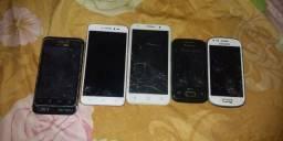 5 celulares para retirada de peças