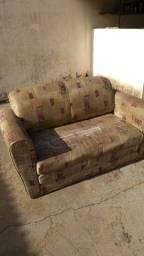 Sofá cama dois lugares (usado, no estado - leia descrição)