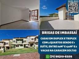 Título do anúncio: Brisas de Imbassaí, Casas duplex e triplex entre 86m² e 130m² e 2 vagas - Espetacular