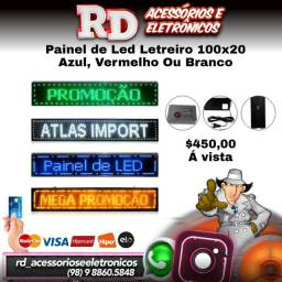 PAINEL DE LED LETREIRO 100X20