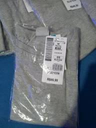 Camiseta básica Hering infantil Novas com etiqueta