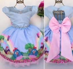 Vestido galinha pitadinha para 3 anos somente 90$