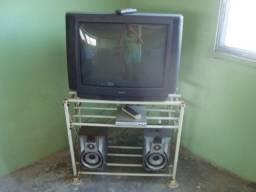 tv CCE, dvd Viccini, duas caixas acústicas