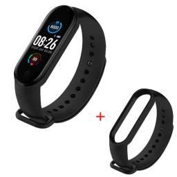 Relógio Digital Inteligente Smartband M5 Batimentos Pressão+ Pulseira Grátis