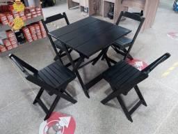 Título do anúncio: Mesas e cadeiras dobrável 70x70