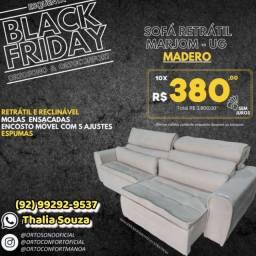 Título do anúncio: ! Sofá sofá Madero Retrátil Reclinável\ Assento Molas Ensacadas/ ++frete grátis Manaus