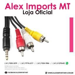 Cabos Av P3 X Rca Áudio E Vídeo Tv Midiabox Receptor