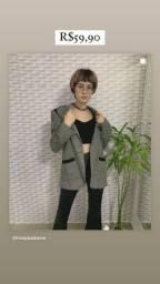 Título do anúncio: Blazer alongado lã batida