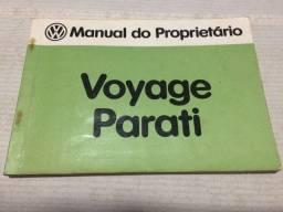 Manual do Proprietário Voyage e Parati 1985