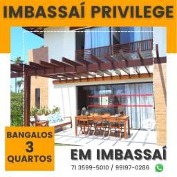 Título do anúncio: Imbassaí Privillege - Bangalôs 2 suítes, 158m²