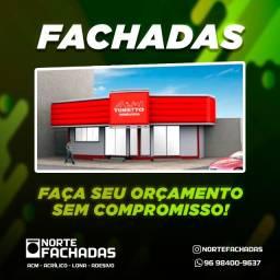Título do anúncio: Norte Fachadas Macapá -Acm Acrílico Lona Adesivo