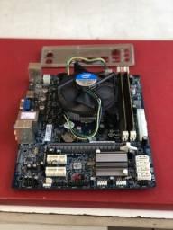 Kit intel core i5  2310 +placa mãe h61 ecs   +4gb de memória ddr3 com hdmi