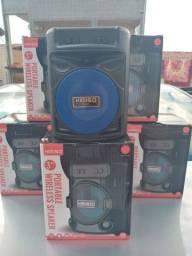 Título do anúncio: Caixa de som portátil com bluetooth