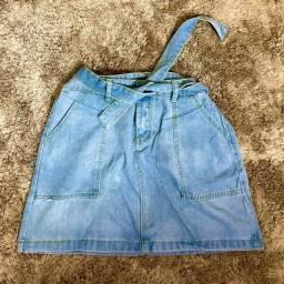 Saia jeans estilosa