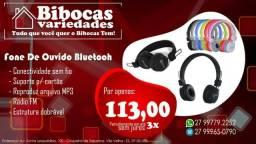Fone De Ouvido Bluetooth, Radio, Microfone E Entrada P/ Cartão