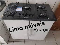 Balcão Luana 0,85 c/ Fogão Cooktop 5Chamas