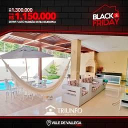 FN Casa A Venda Em Condomínio/ Villa De Valega/ 4 dormitórios/ Piscina e Churrasqueira