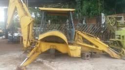 Retro escavadeira new holland