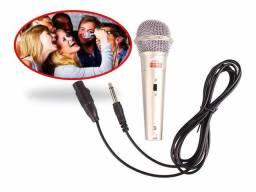 Microfone karaokê Profissional Com Fio