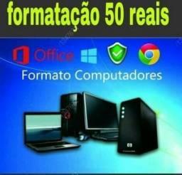 Formatação de Desktop e Notebooks