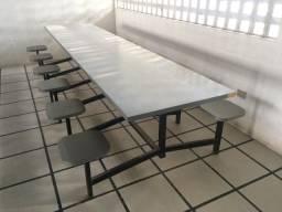 Mesas para refeitório de 12 lugares