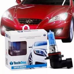 Lâmpadas Tech One Originais 8500K H4 H3 H7 H8 H27 H1 H16 HB4 e H11 Super Brancas