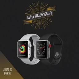 Loja física. Apple Watch séries 3 38 42mm novos lacrados 1 ano garantia apple retira hoje