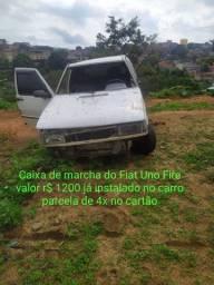 Caixa de marcha do Fiat Uno Fire valor r$ 1200 já instalado no carro parcela de 4x