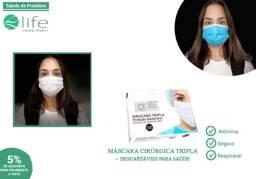 Máscara tripla proteção, lavável. (Grupo Perlatenda)