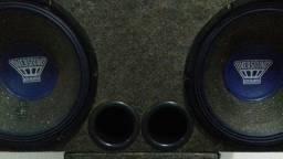 Caixote com 2 falantes 220