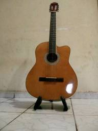 Violão Elétrico Class Guitar, com afinador digital