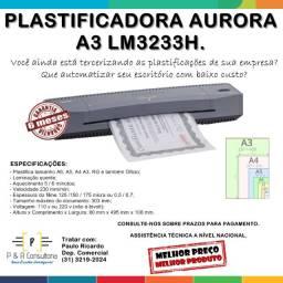 Plastificadora Aurora A3 LM3233H. Promoção!