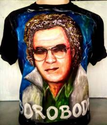 Camisetas Reginaldo Rossi todas pintadas no pincel