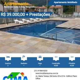 Título do anúncio: Cima Vende: Apartamento mobiliado, entre o Mar e Montanhas- Financiamento Bancários