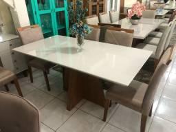 Título do anúncio: Mesa de jantar nova completa 6 lugares pintura laka e madeira