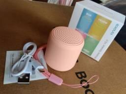 Mini Caixa de Som Bluetooth amplificada de Alça